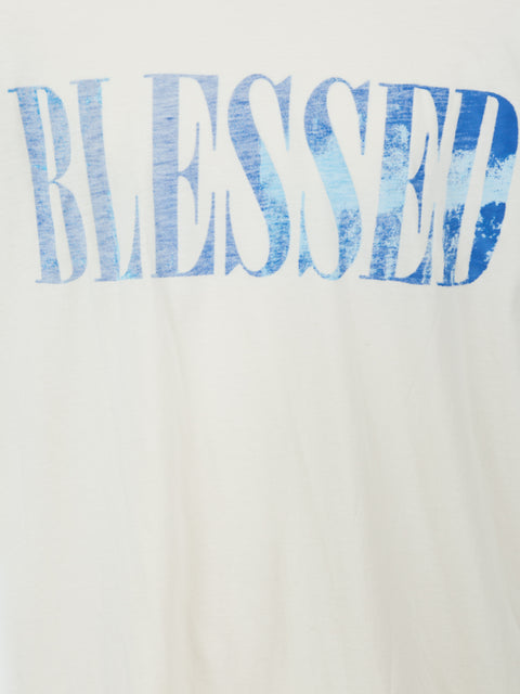 BLESSED SHORT SLEEVE TEE SHIRT IN WHITE