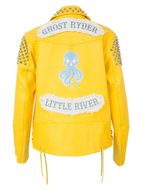 GANG GANG LEMON CITY BIKER JACKET IN MIMOSA
