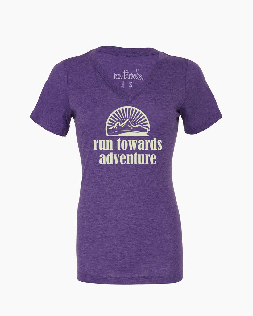 Run Towards Adventure Relaxed V-Neck