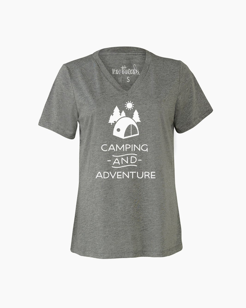 Camping and Adventure Relaxed V-Neck