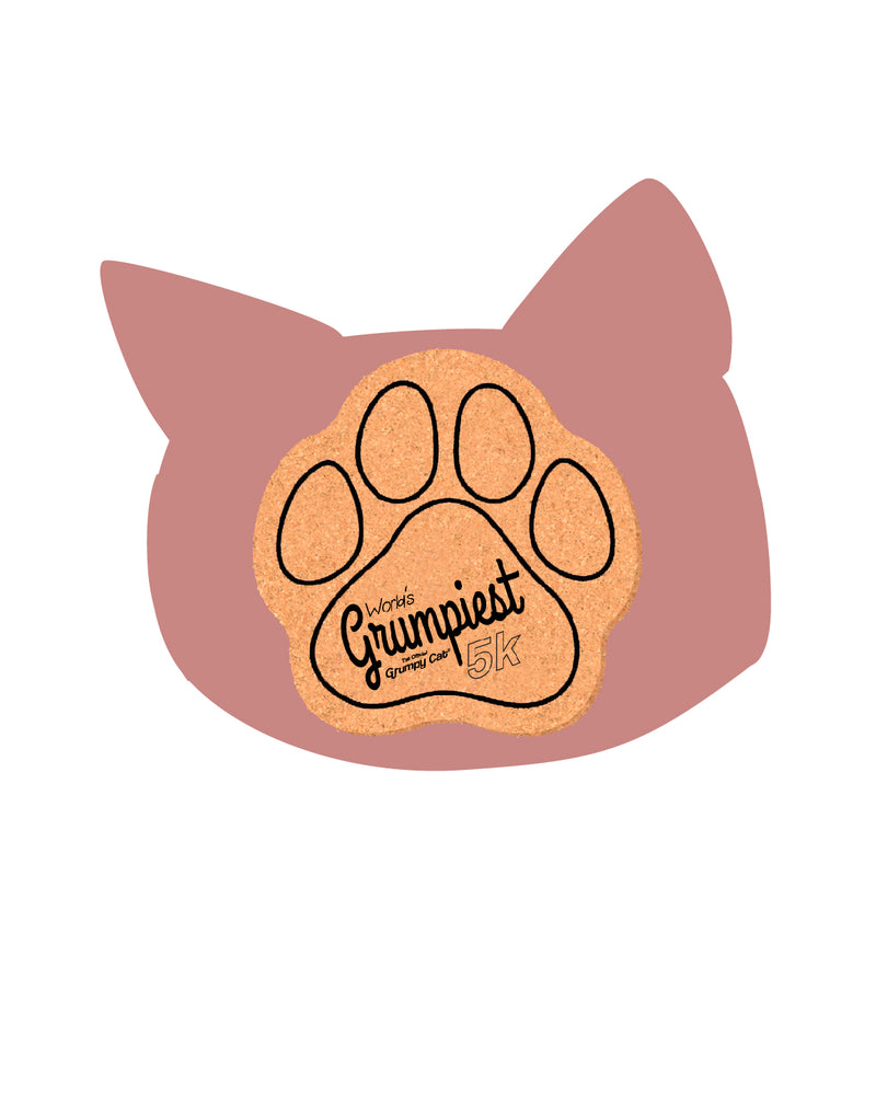 "Grumpy Cat 5"" Paw Coaster"