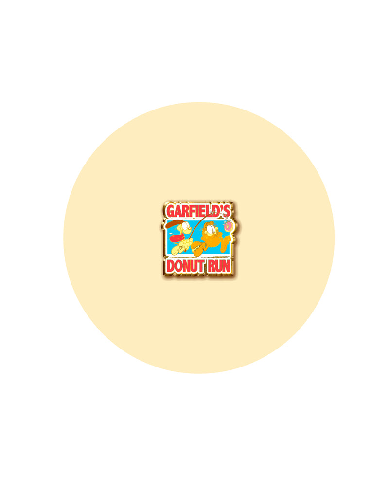 Garfield's Donut Run Official Race Pin