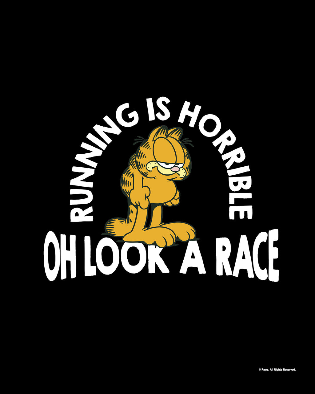 Garfield Hates Running