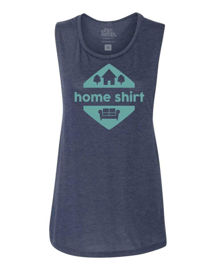 Home Shirt Flowy Scoop Tank