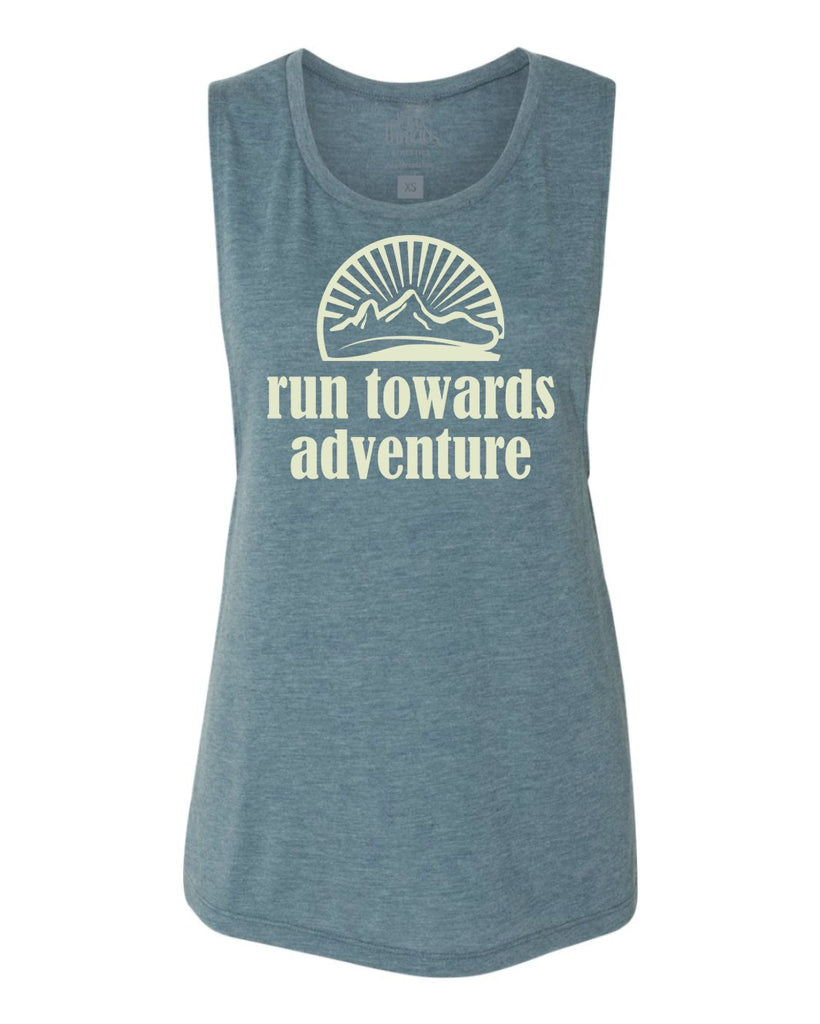 Run Towards Adventure Flowy Scoop Tank