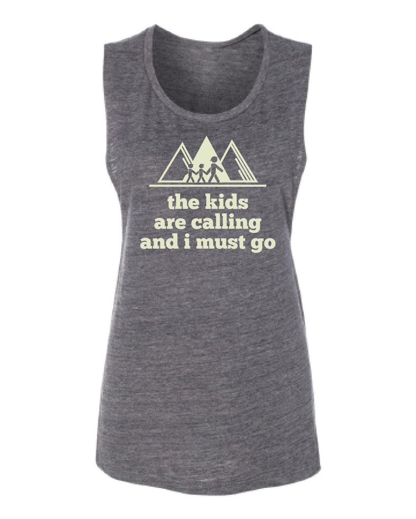 The Kids are Calling and I must go Flowy Scoop Tank