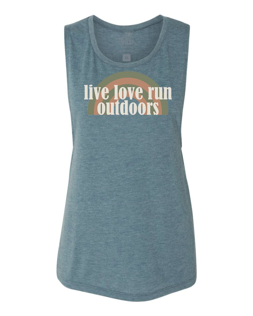 Live Love Run Outdoors Flowy Scoop Tank