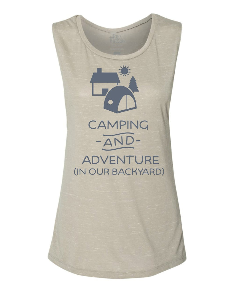 Camping and Adventure (in our backyard) Flowy Scoop Tank