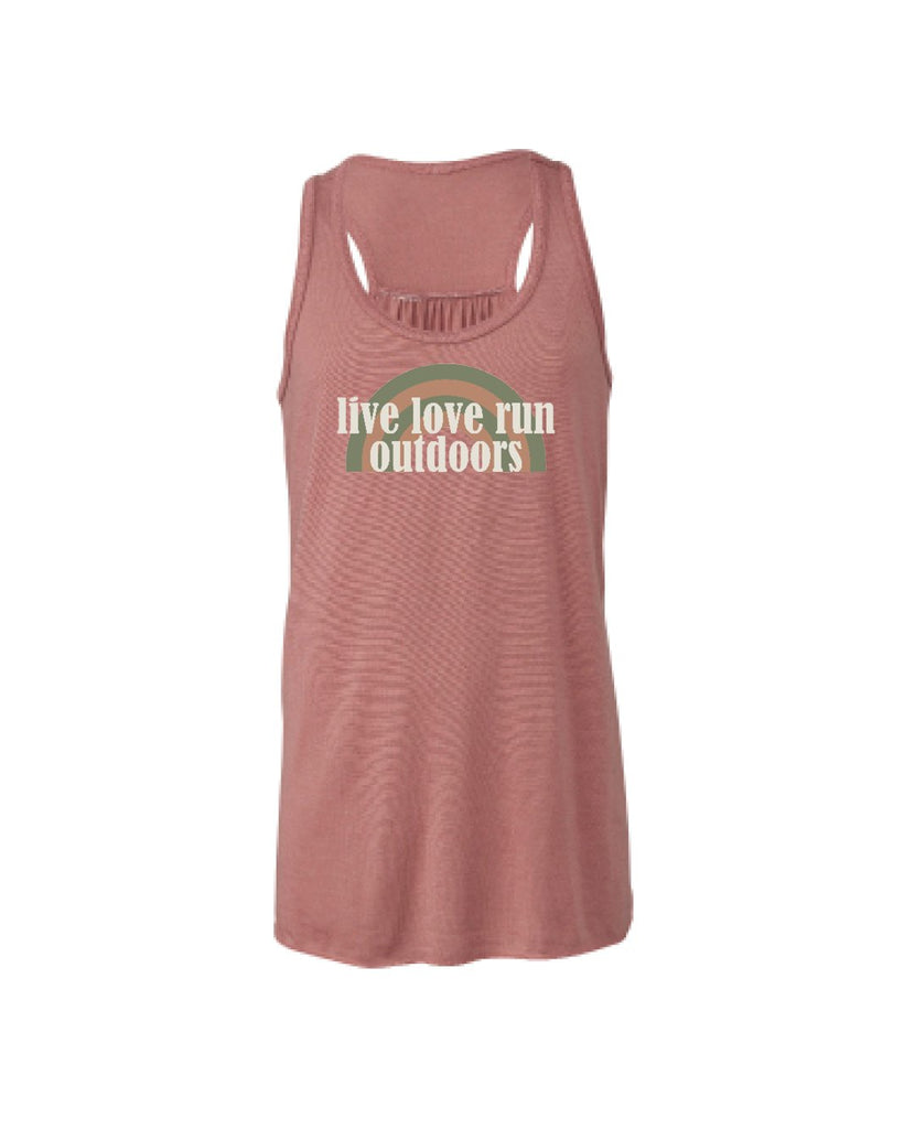Live Love Stay Indoors (couch) Youth Flowy Racerback