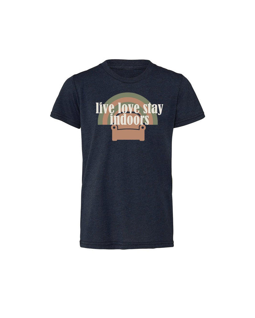 Live Love Stay Indoors (couch) Youth Short Sleeve