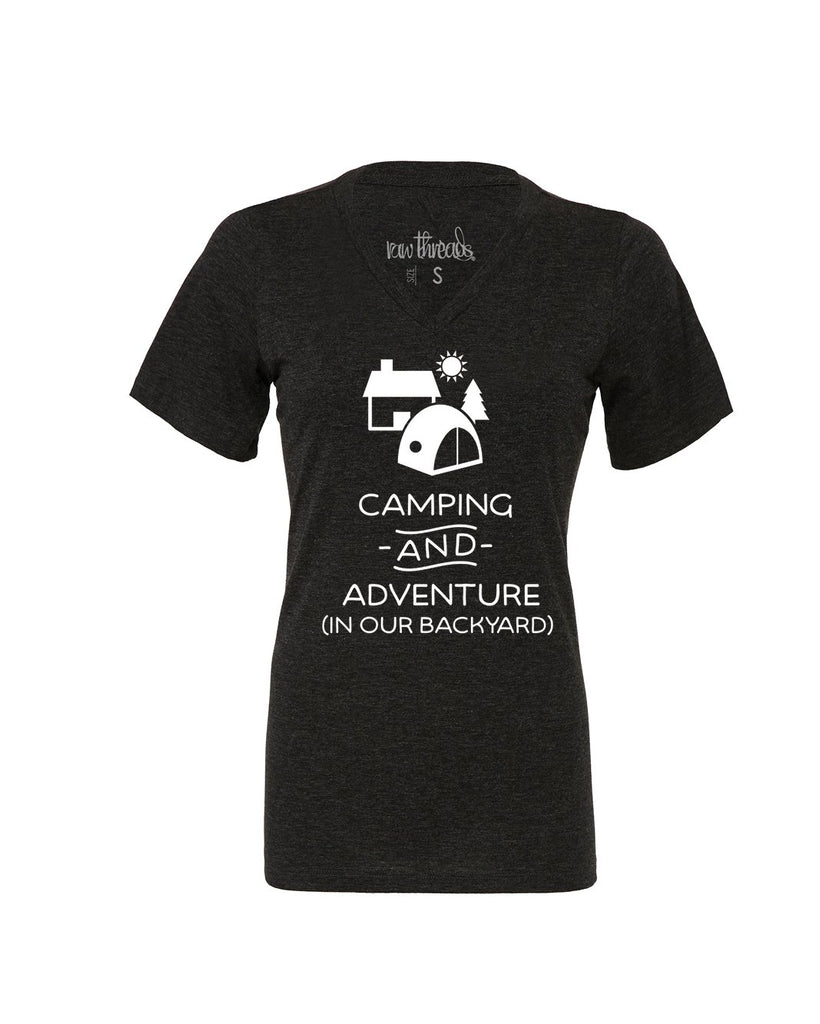 Camping and Adventure (in our backyard) Relaxed V-Neck