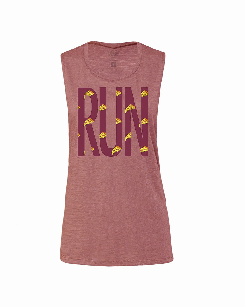 PIZZA BIG Run Flowy Scoop Tank