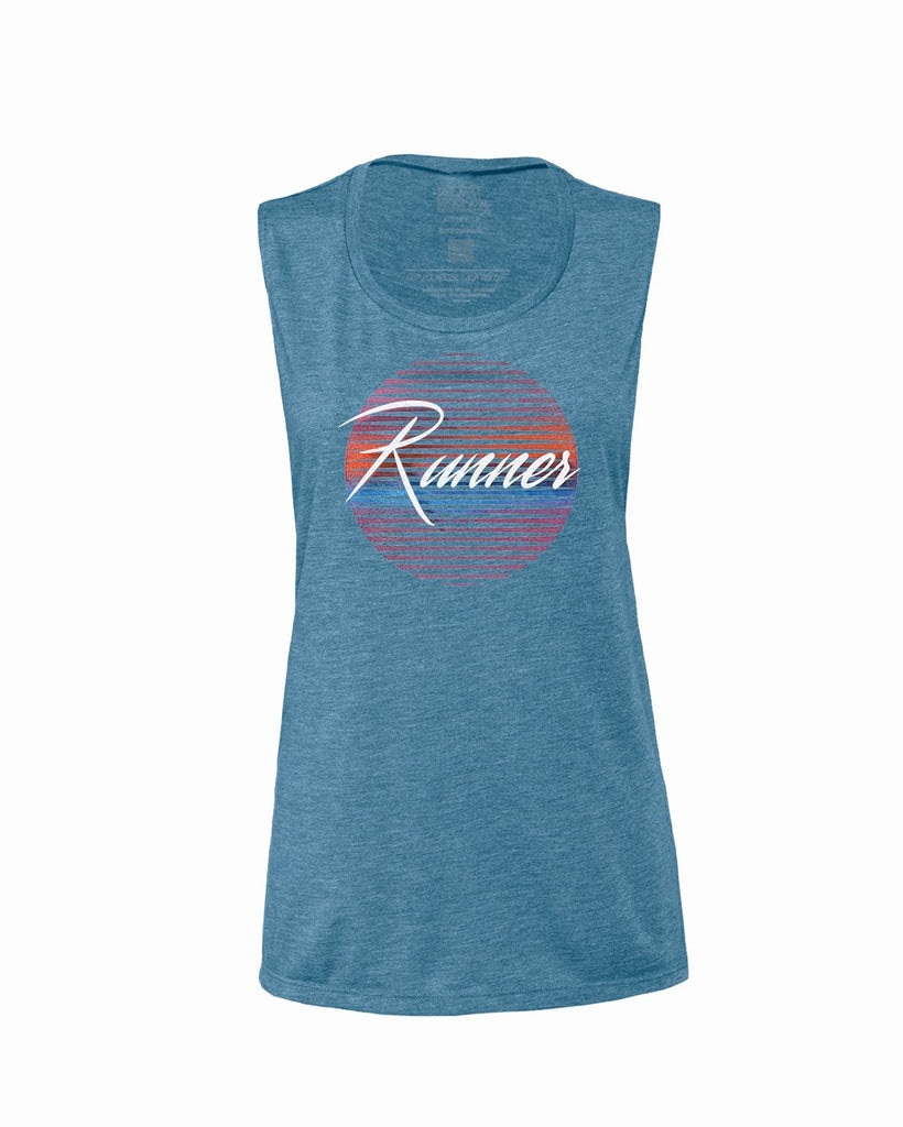 80's Runner (Sun) Flowy Scoop Tank