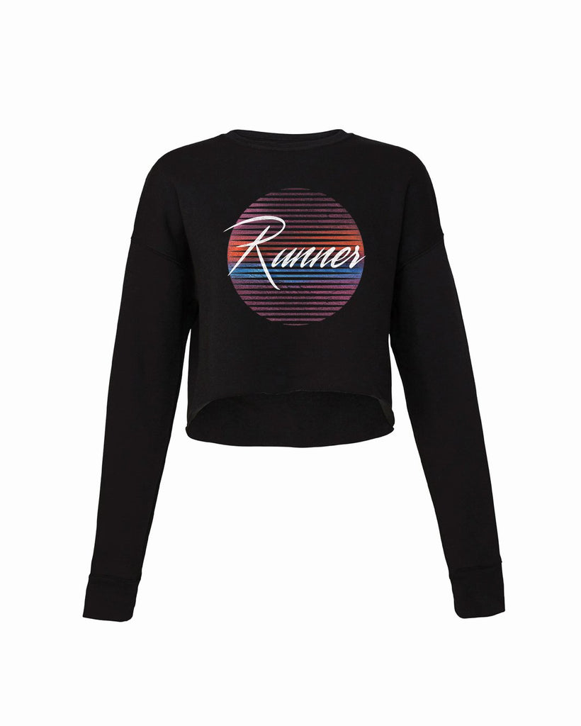 80's Runner (Sun) Cropped Crew Fleece