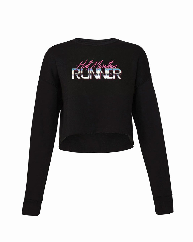 80's Runner Half Marathoner Cropped Crew Fleece