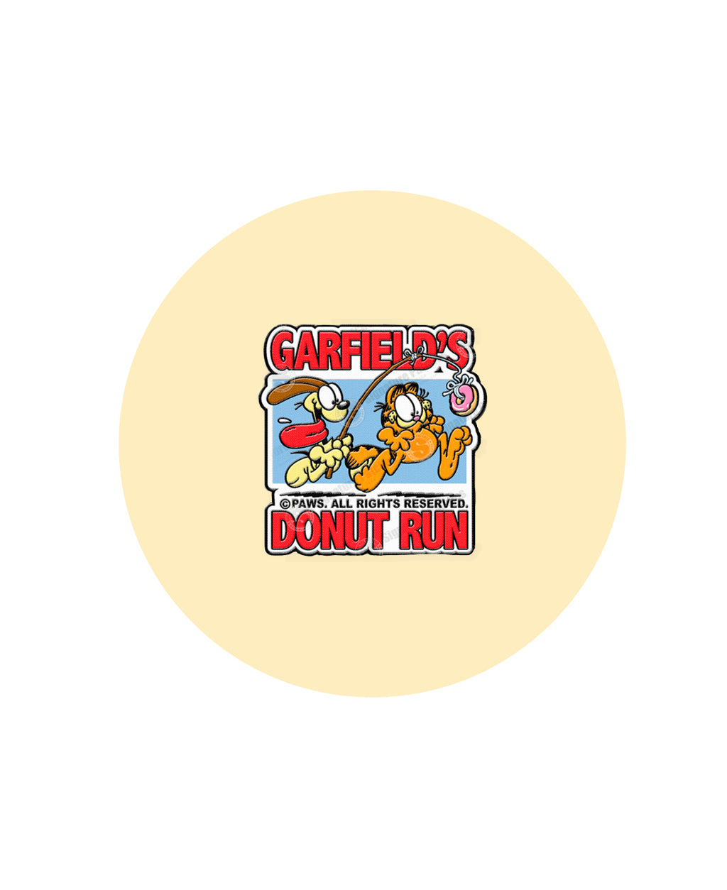 Garfield's Donut Run Official Race Patch
