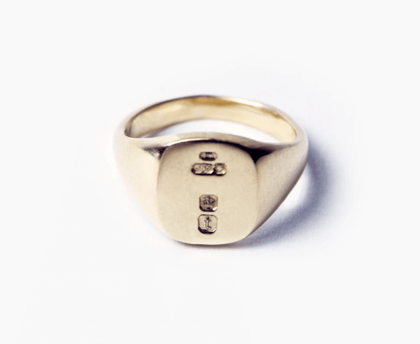 mens silver gold signet rings made in brookly new york