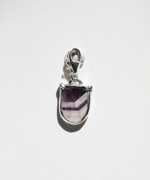 Striped Amethyst Medallion Charm
