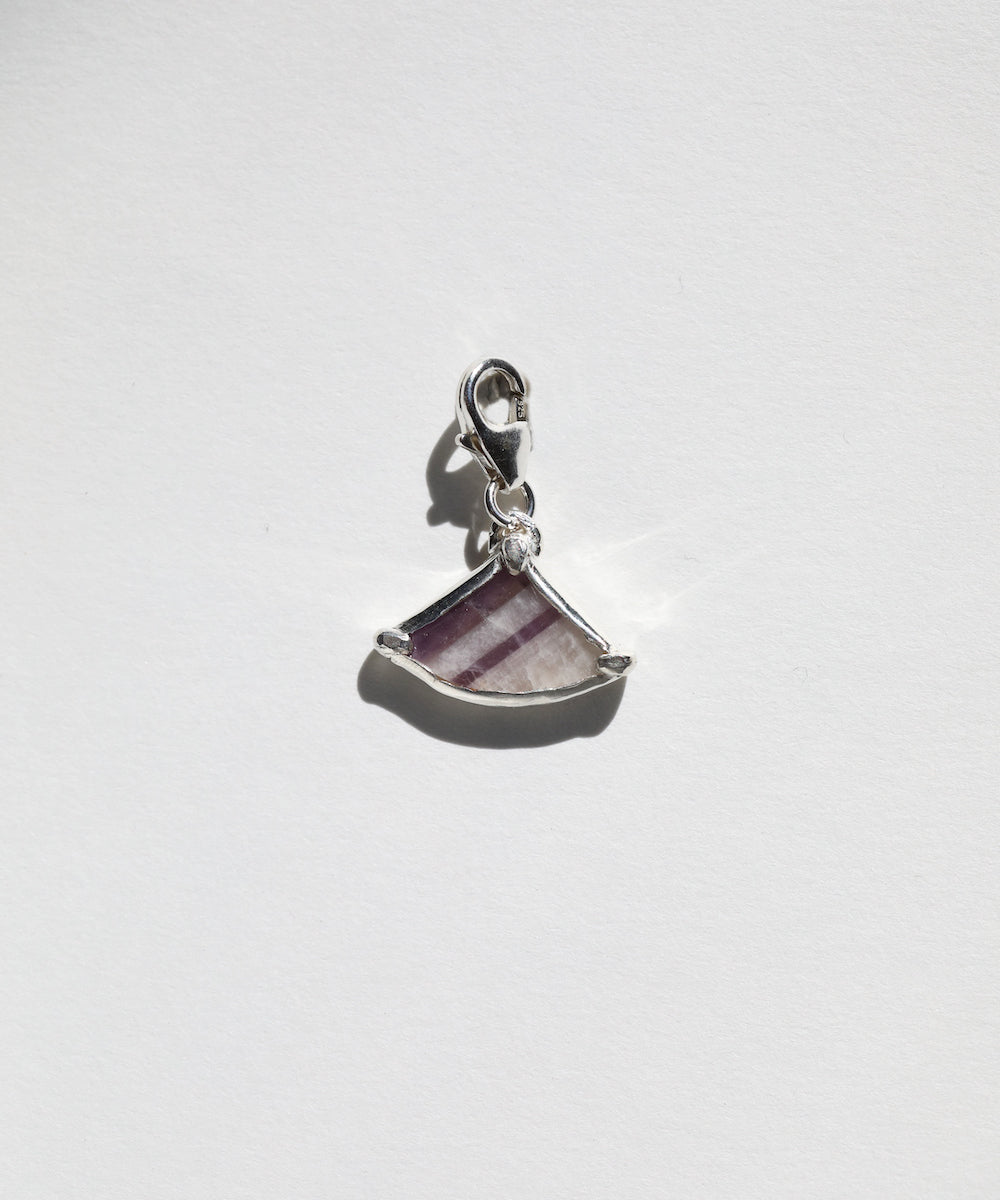 Striped Amethyst Pie Charm