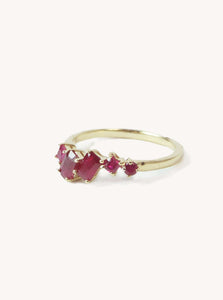 Asymmetric Ruby Ring
