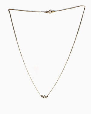 Asymmetric Baguette Diamond Necklace