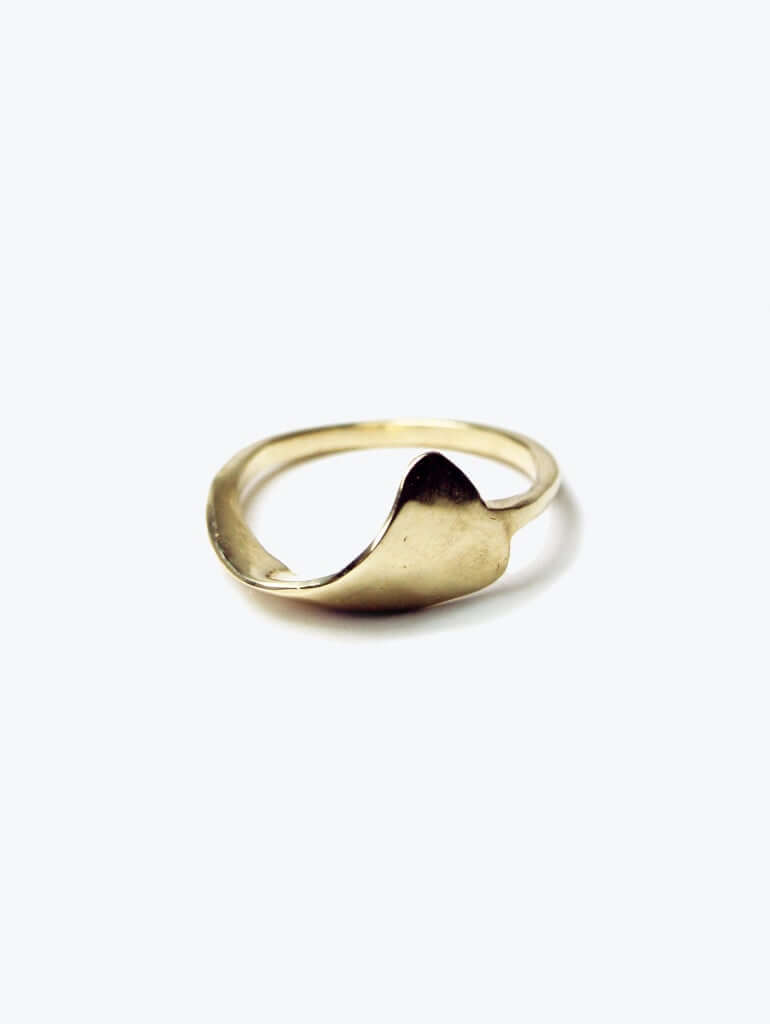 Billow Ring Gold, Ring, Macha Studio, Brooklyn NYC