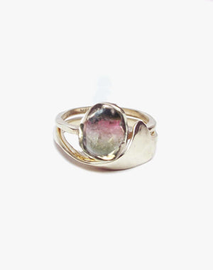 Ombre Tourmaline Cab ring set