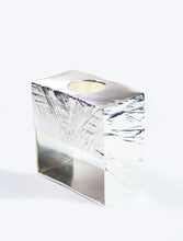Raw Cut Candle Holder Silver