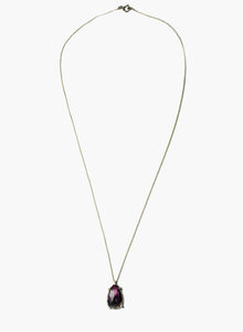 Cerise/Black Tourmaline Necklace Gold