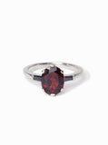 garnet black diamond engagement ring custom wedding band brooklyn nyc