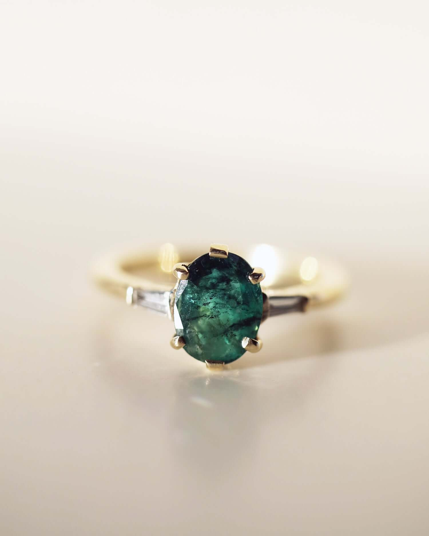Ciara Oval emerald ring