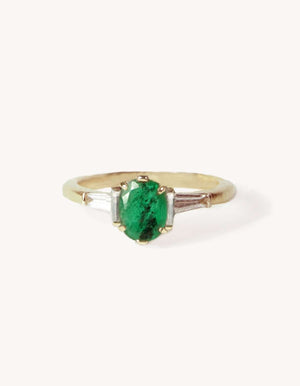 Emerald Deco ring