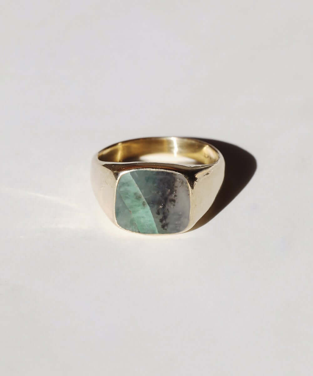 Brazilian Emerald Signet Ring