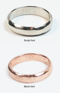 Ragged Wedding Band 14k Rose Gold 3 - 5mm