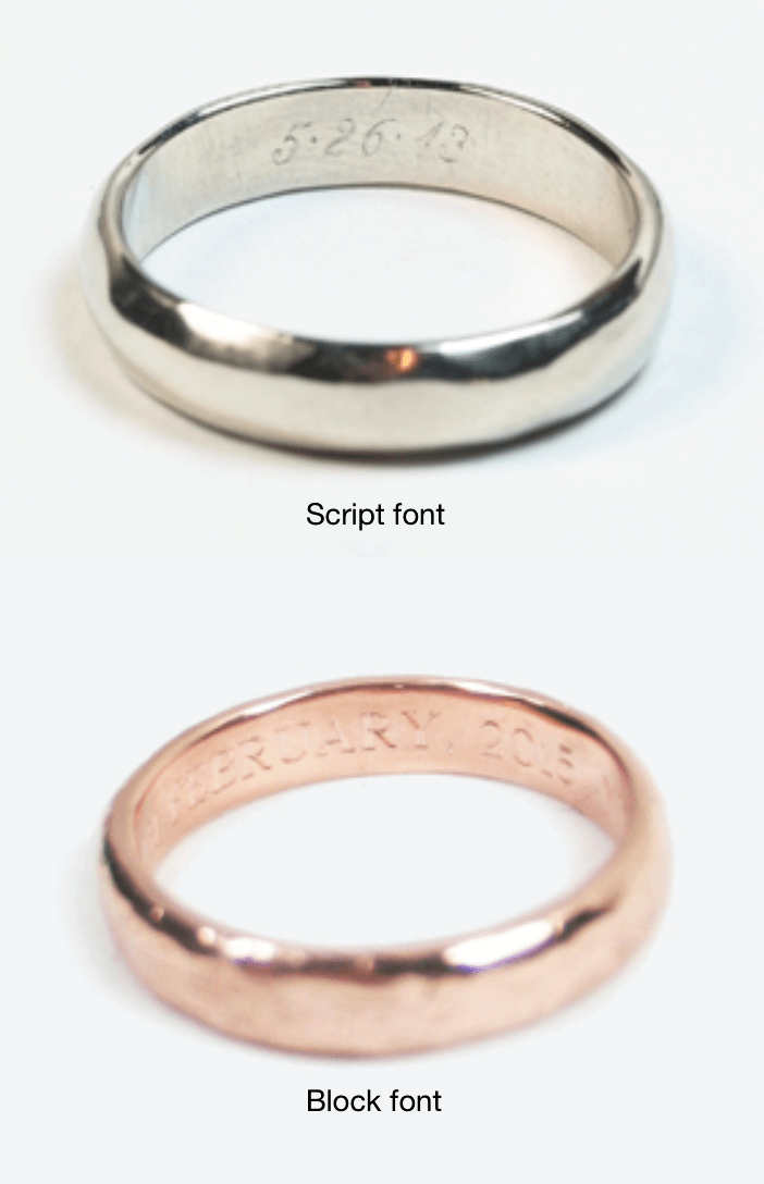 Ragged Wedding Band 14k Rose Gold 6 - 8mm
