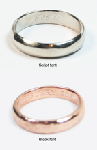 Rose Gold Wedding Bands with Sapphires