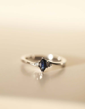 Estelle II Ring with Sapphire or Ruby