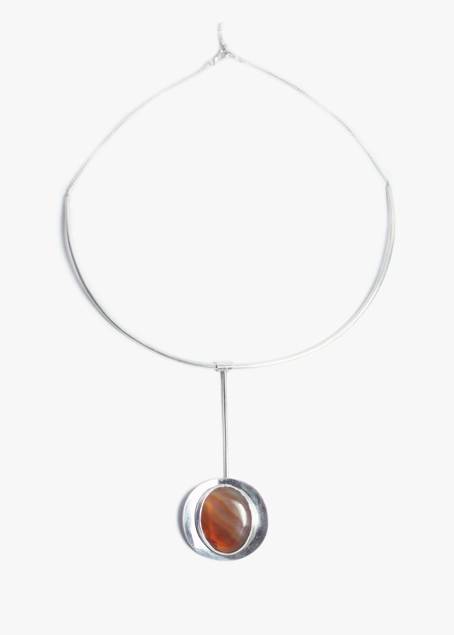Ettore Necklace with agate, Necklace, Macha Studio, Brooklyn NYC