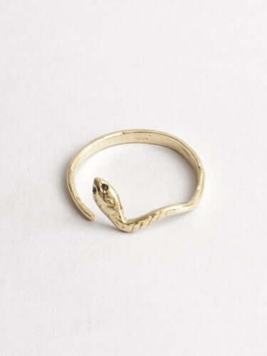 Eva The Snake Ring Yellow Gold,engagement/wedding) Macha Studio, Brooklyn NYC
