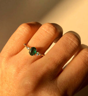 Aisling Ring with Emerald