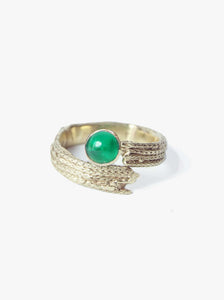 Foxtail Wrap Ring with Emerald