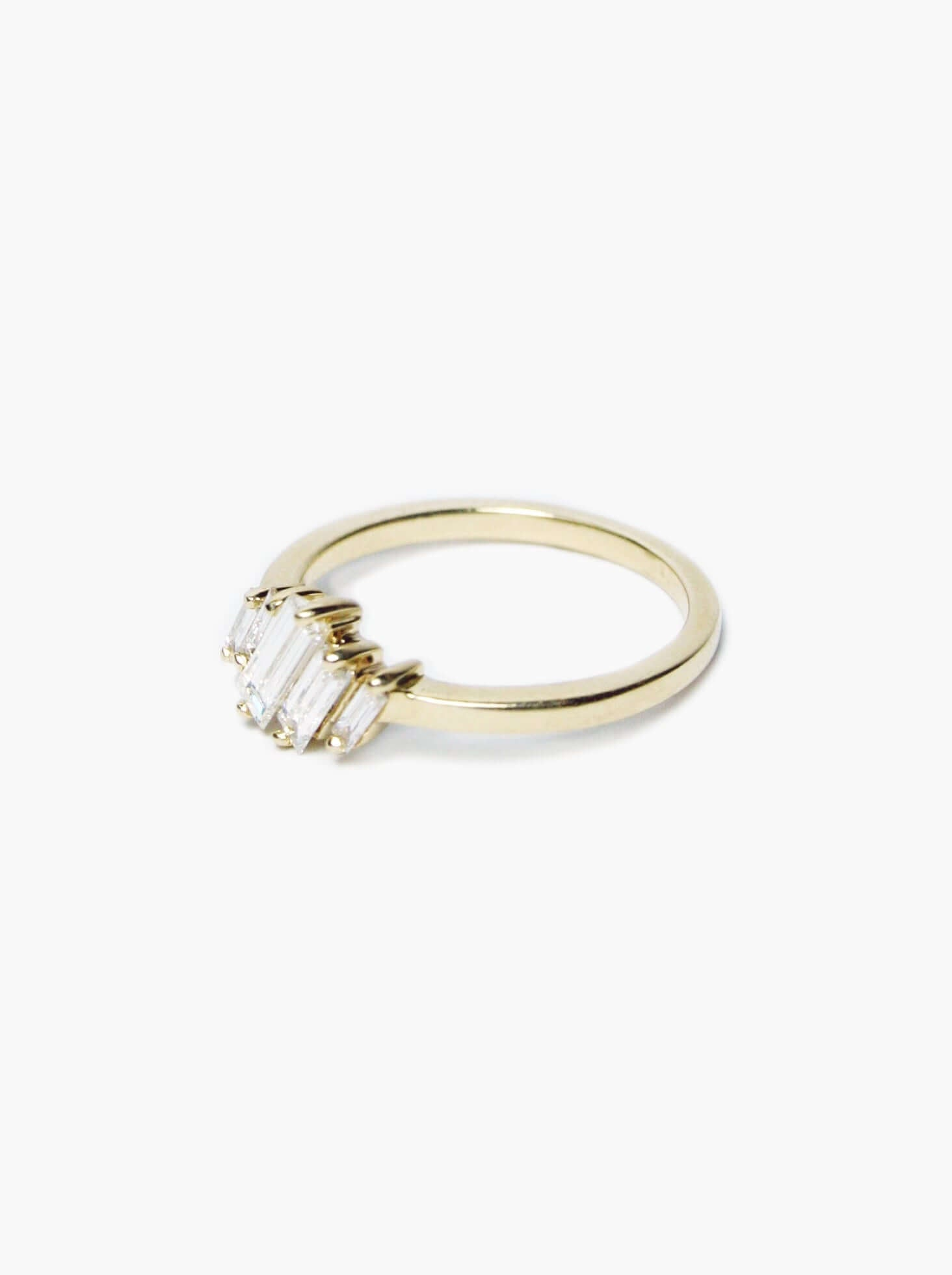 Heather Baguette Ring Yellow Gold, Engagement/Wedding, Macha Studio, Brooklyn NYC