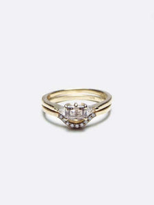 Patti Diamond Trillion Ring Cognac Engagement/Wedding Macha Studio, Brooklyn NYC