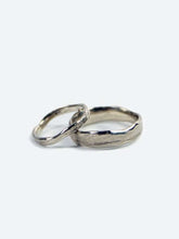 Molten Wedding Band (Tall) White Gold