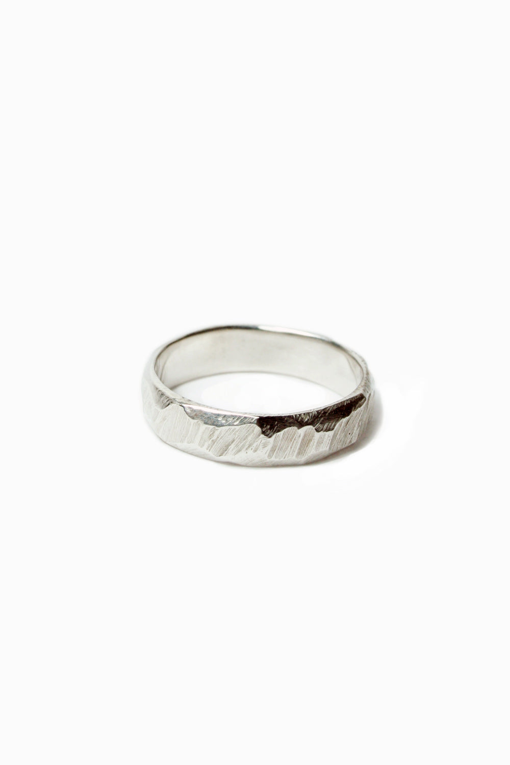 Ragged band Sterling Silver 4 - 10mm