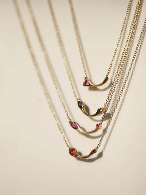 Misprint ruby marquise necklace