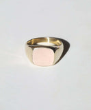 Morganite Signet Ring