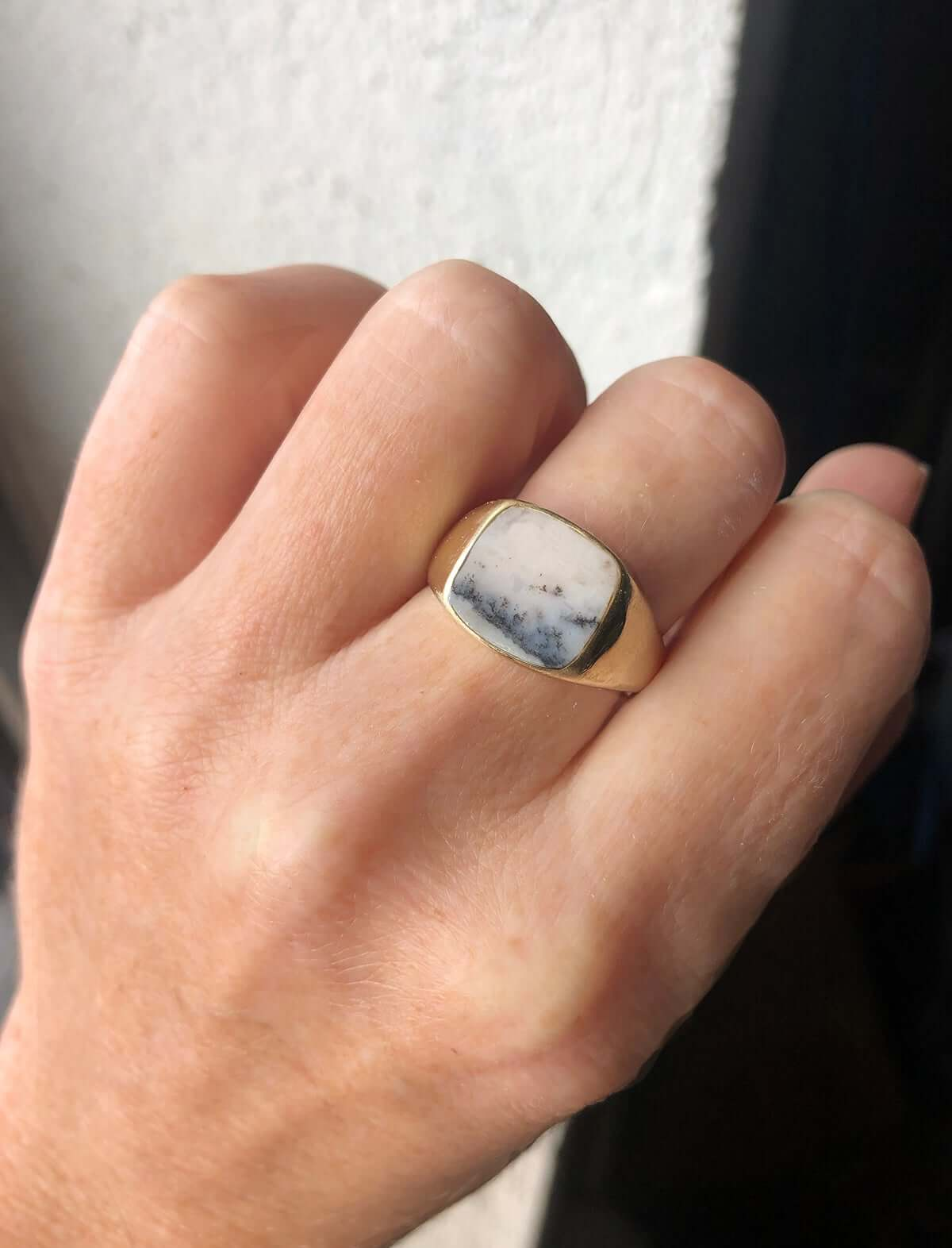 mens signet rings silver gold custom brooklyn Macha studio nyc