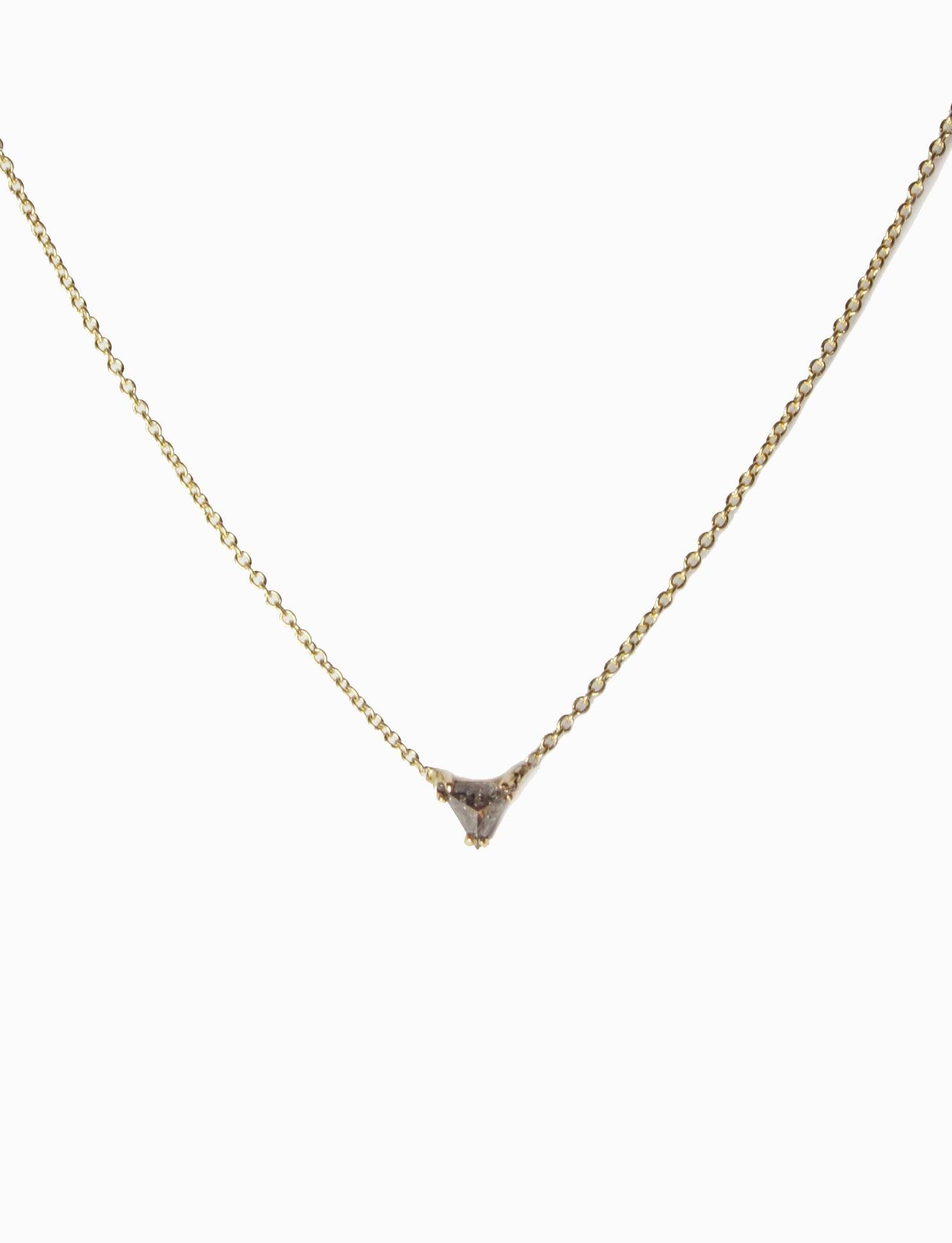 Diamond trillion necklace