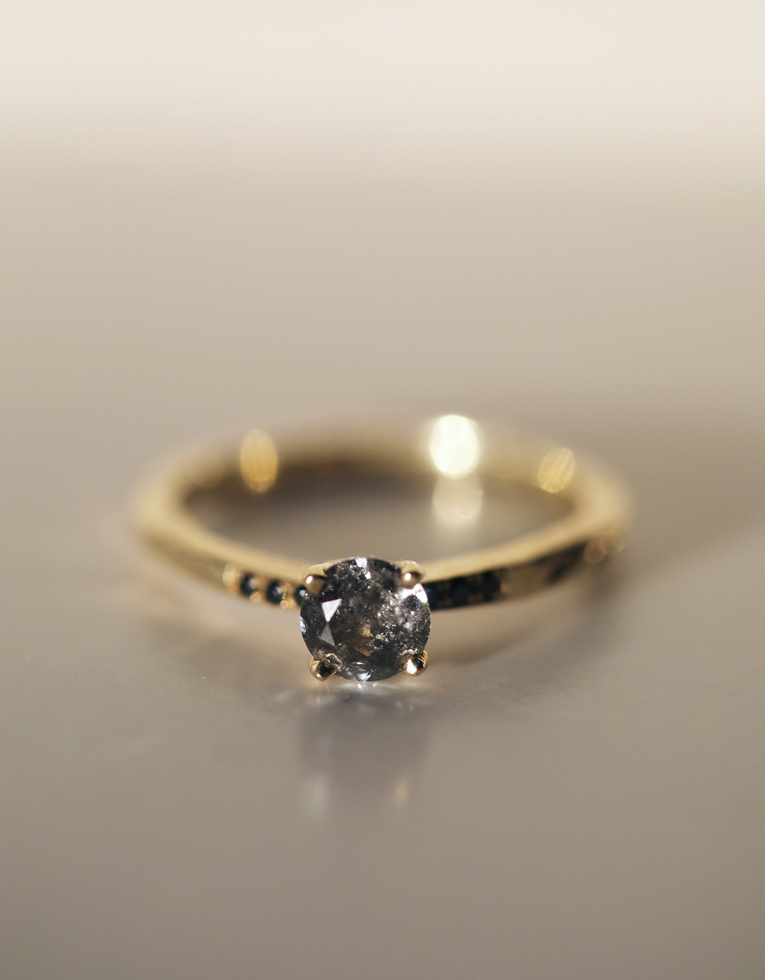Salt N Pepper Ragged Solitaire 0.5ct
